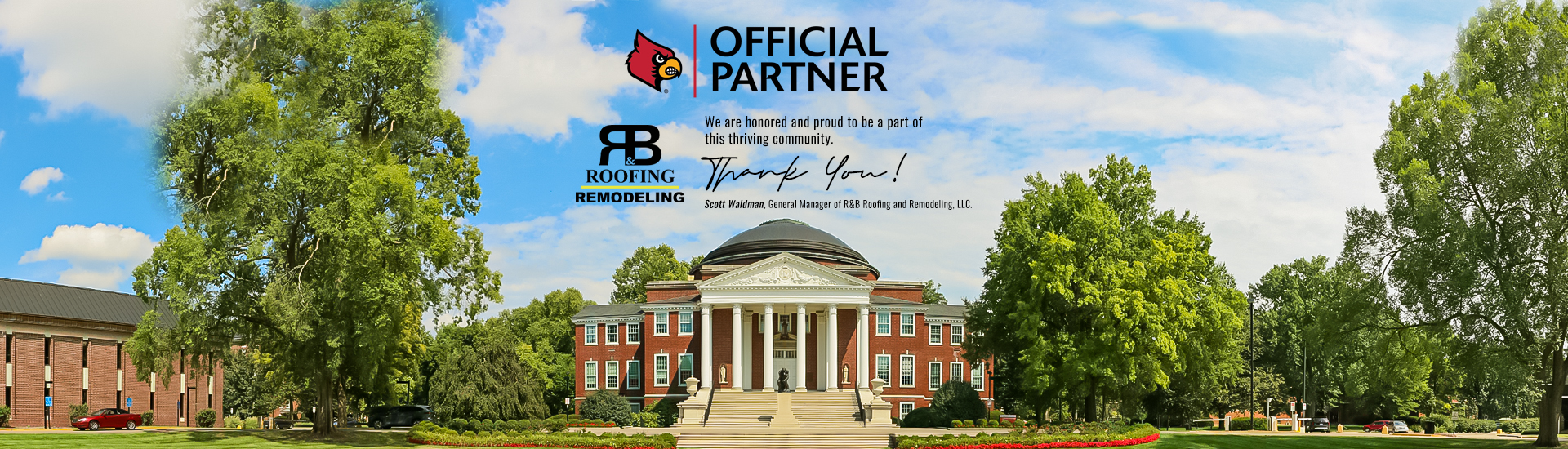 R&B Roofing Remodeling Official Partner of Louisville Cardinals